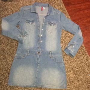 H@M Jean dress size 8 NWOT